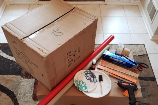 Wrap a Cardboard Box